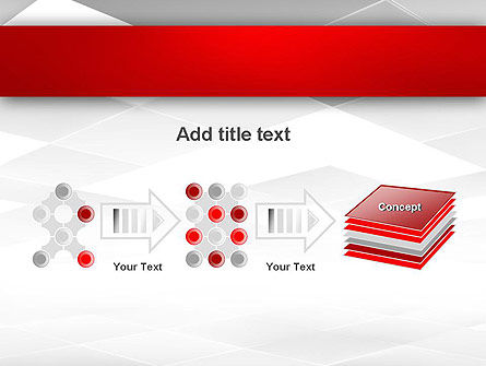 Gray Squares with Perspective PowerPoint Template Slide 9