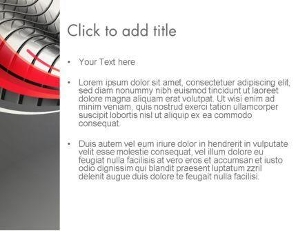 Abstract Metal Bends PowerPoint Template, Slide 3, 12686, Abstract/Textures — PoweredTemplate.com