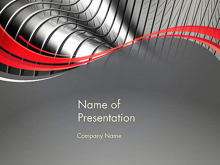 Abstract Metal Bends PowerPoint Template, 12686, Abstract/Textures — PoweredTemplate.com