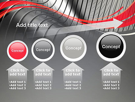 Abstract Metal Bends PowerPoint Template Slide 13
