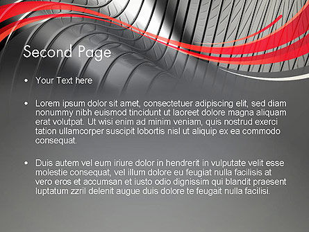 Abstract Metal Bends PowerPoint Template, Slide 2, 12686, Abstract/Textures — PoweredTemplate.com