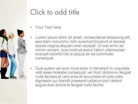 People Standing in Line PowerPoint Template, Slide 3, 12687, People — PoweredTemplate.com