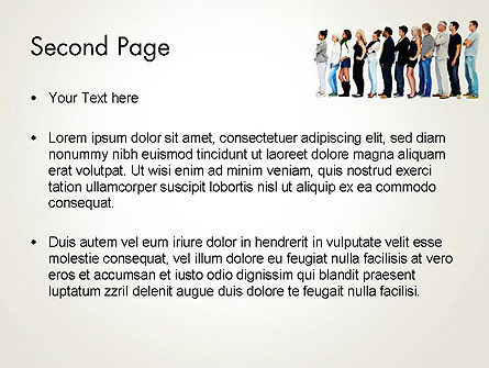 People Standing in Line PowerPoint Template, Slide 2, 12687, People — PoweredTemplate.com