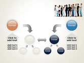 People Standing in Line PowerPoint Template#19