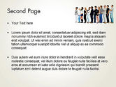 People Standing in Line PowerPoint Template#2