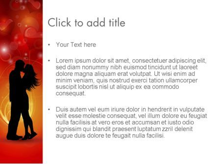 Love Theme with Silhouette of Lovers PowerPoint Template, Slide 3, 12688, Holiday/Special Occasion — PoweredTemplate.com