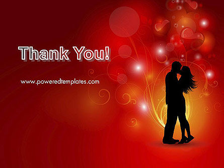 Love Theme with Silhouette of Lovers PowerPoint Template Slide 20