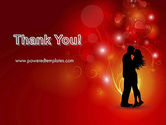 Love Theme with Silhouette of Lovers PowerPoint Template#20