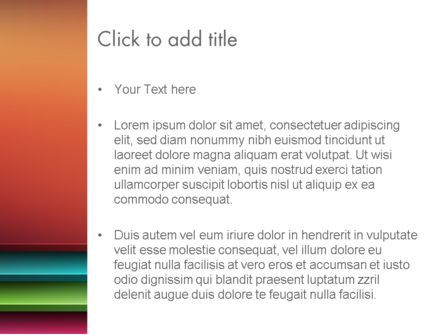 Abstract Colored Horizontal Shelves in Pseudo 3D PowerPoint Template, Slide 3, 12689, Abstract/Textures — PoweredTemplate.com