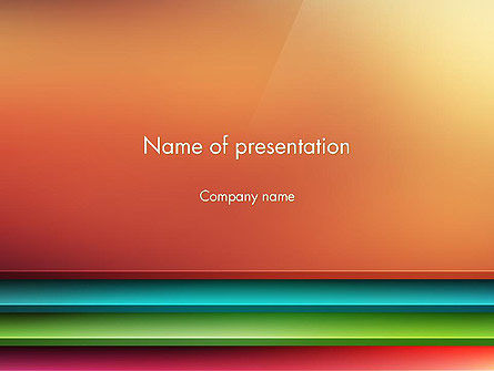Abstract Colored Horizontal Shelves in Pseudo 3D PowerPoint Template