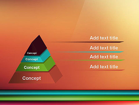 Abstract Colored Horizontal Shelves in Pseudo 3D PowerPoint Template Slide 12