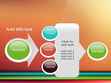Abstract Colored Horizontal Shelves in Pseudo 3D PowerPoint Template Slide 17