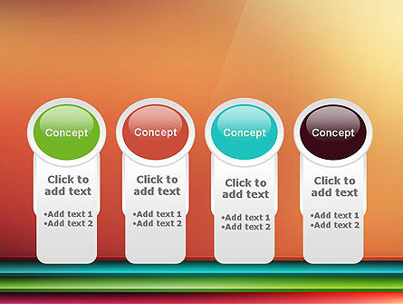Abstract Colored Horizontal Shelves in Pseudo 3D PowerPoint Template Slide 5