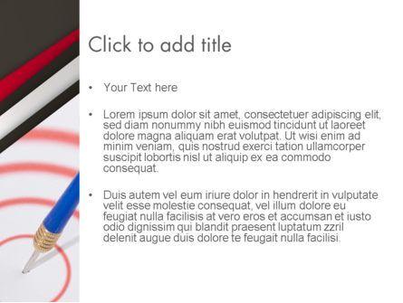 Arrow Hits Goal PowerPoint Template, Slide 3, 12690, Business Concepts — PoweredTemplate.com