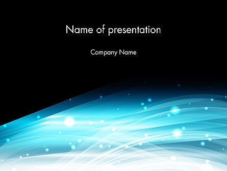 Snowy Abstraction PowerPoint Template