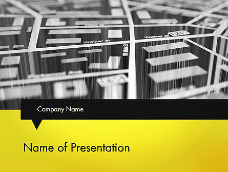 3D Navigation Map PowerPoint Template