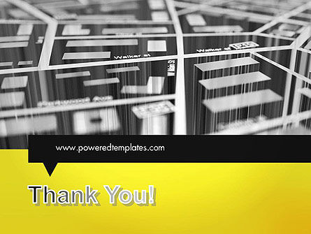 3D Navigation Map PowerPoint Template Slide 20