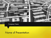 Careers/Industry: 3D Navigation Map PowerPoint Template #12692