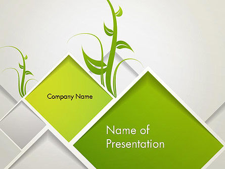 Nature & Environment: Abstract Greenhouse Concept PowerPoint Template #12694