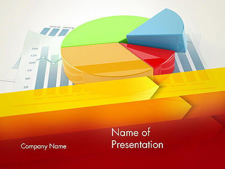 Business Concepts: Three Dimensional Pie Chart PowerPoint Template #12696