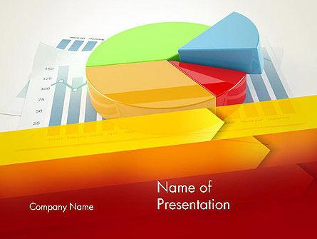 Business Concepts: Modello PowerPoint - Tre grafico a torta tridimensionale #12696