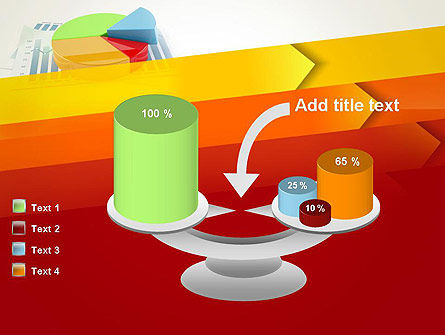 Three Dimensional Pie Chart PowerPoint Template Slide 10