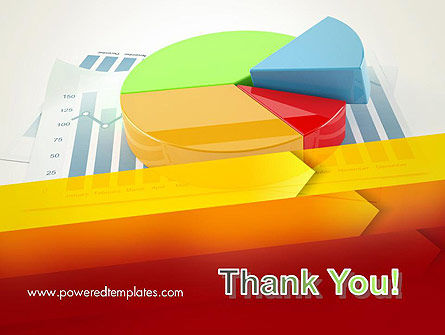 Three Dimensional Pie Chart PowerPoint Template Slide 20