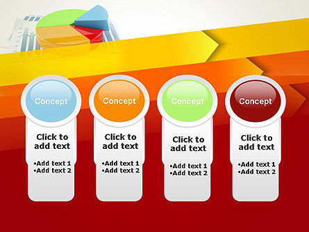 Three Dimensional Pie Chart PowerPoint Template Slide 5