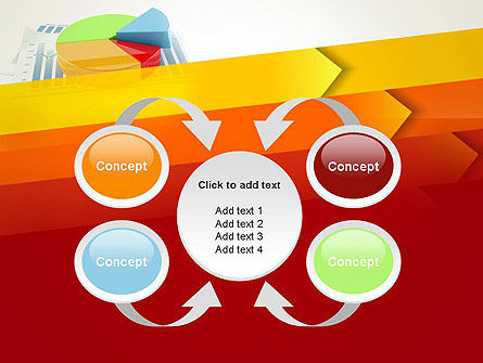 Three Dimensional Pie Chart PowerPoint Template Slide 6