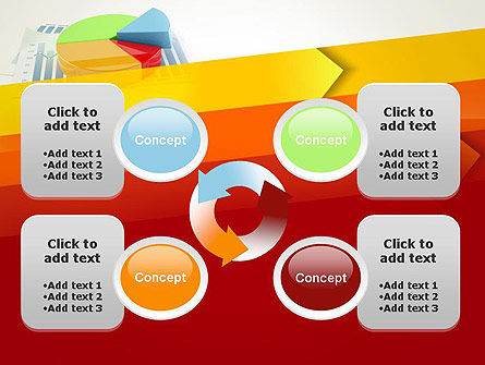 Three Dimensional Pie Chart PowerPoint Template Slide 9