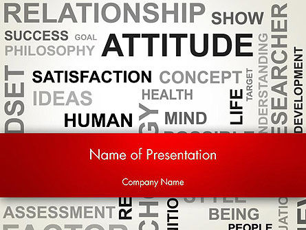 Careers/Industry: Attitude Word Cloud PowerPoint Template #12699