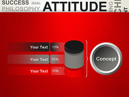 Attitude Word Cloud PowerPoint Template Slide 11