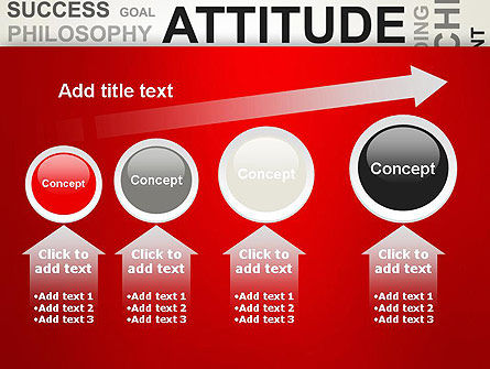 Attitude Word Cloud PowerPoint Template Slide 13