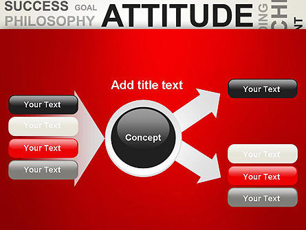 Attitude Word Cloud PowerPoint Template Slide 14