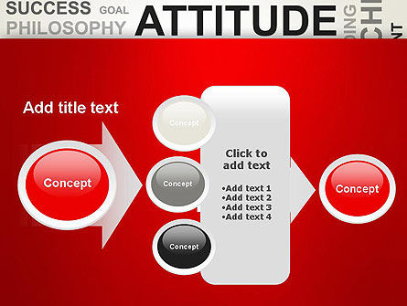 Attitude Word Cloud PowerPoint Template Slide 17
