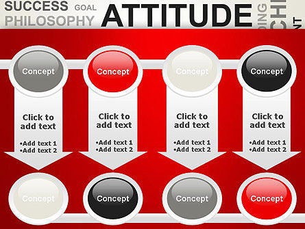 Attitude Word Cloud PowerPoint Template Slide 18