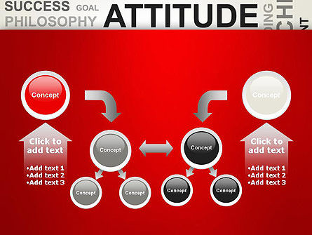 Attitude Word Cloud PowerPoint Template Slide 19