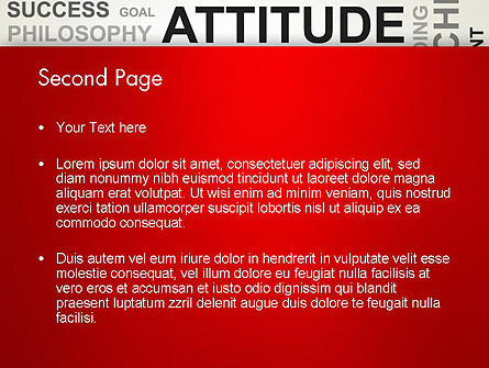 Attitude Word Cloud PowerPoint Template, Slide 2, 12699, Careers/Industry — PoweredTemplate.com