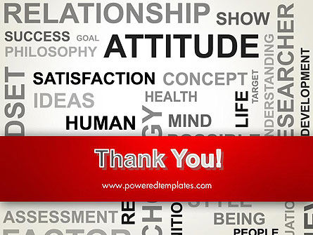 Attitude Word Cloud PowerPoint Template Slide 20