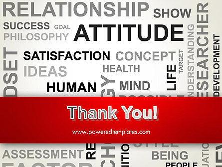 Attitude Word Cloud PowerPoint Template Slide 20