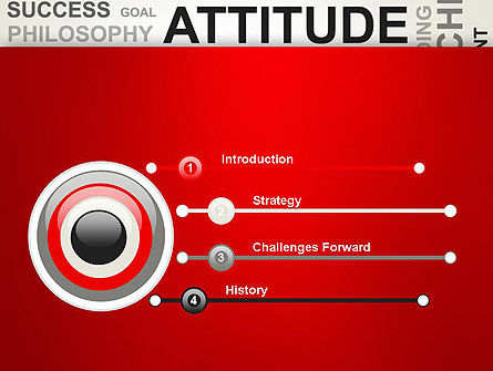 Attitude Word Cloud PowerPoint Template, Slide 3, 12699, Careers/Industry — PoweredTemplate.com