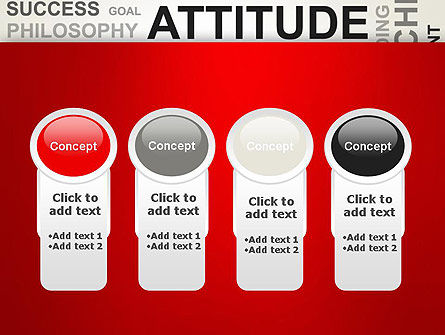 Attitude Word Cloud PowerPoint Template Slide 5