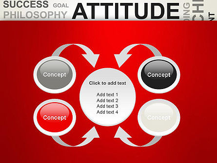 Attitude Word Cloud PowerPoint Template Slide 6