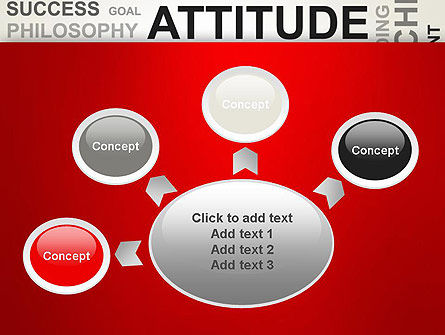 Attitude Word Cloud PowerPoint Template Slide 7