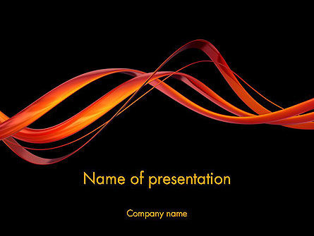 Abstract/Textures: Abstract Red Swirl PowerPoint Template #12700