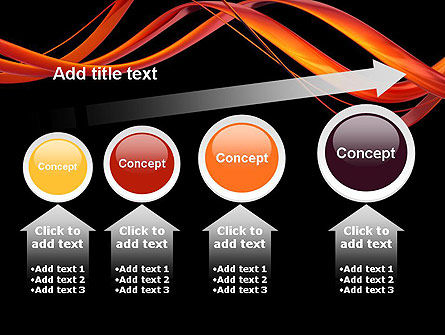 Abstract Red Swirl PowerPoint Template Slide 13