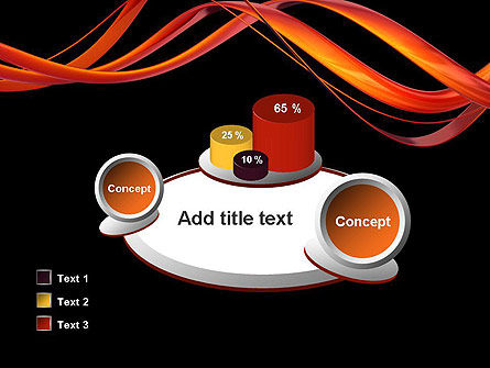 Abstract Red Swirl PowerPoint Template Slide 16