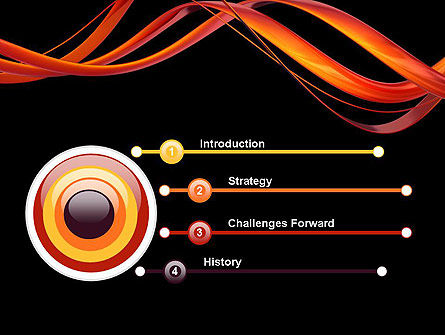 Abstract Red Swirl PowerPoint Template Slide 3