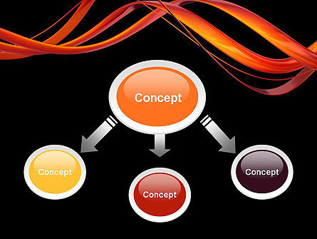 Abstract Red Swirl PowerPoint Template Slide 4