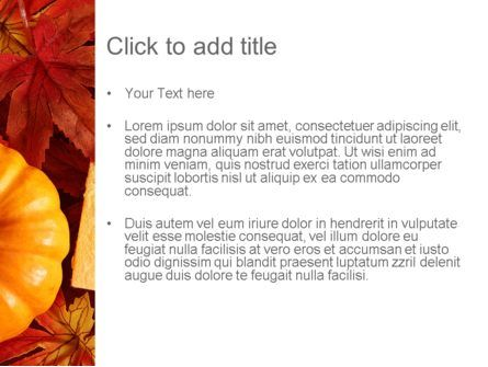 Thanksgiving Card PowerPoint Template, Slide 3, 12702, Holiday/Special Occasion — PoweredTemplate.com